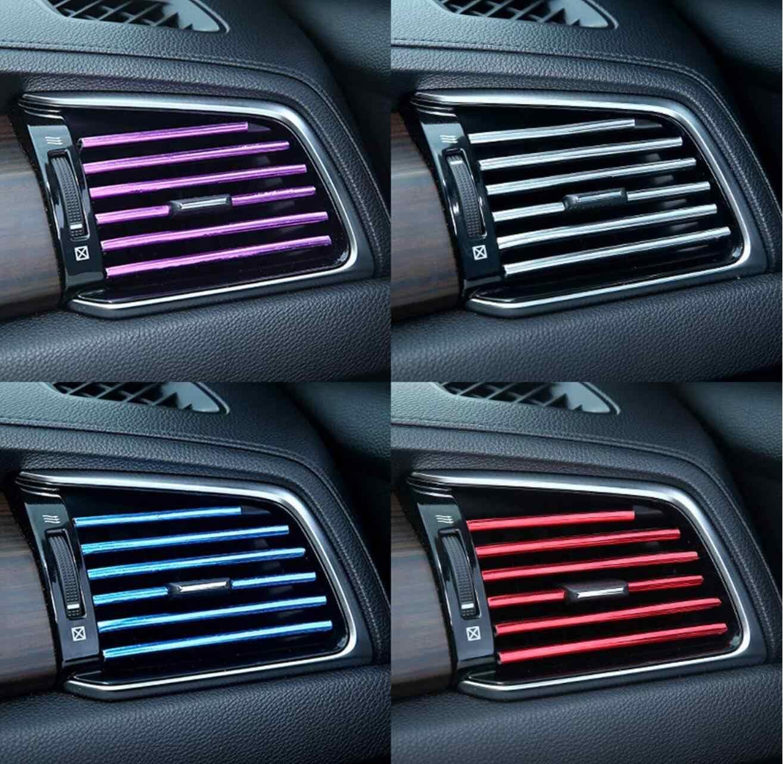 Ventilasi Udara Mobil Trim Strip Mobil Styling untuk Renault Megane 2 3 Duster Logan Clio 4 3 Laguna 2 sandero Indah 2 Captur Fluence Kangoo