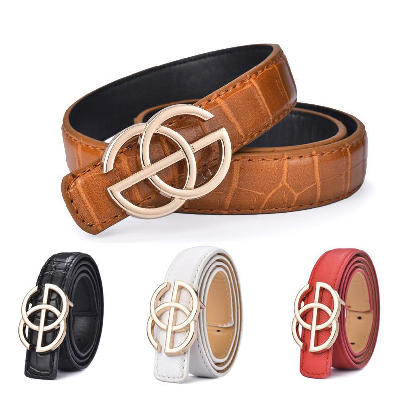New Kids Belt Strap Hight Quality Luxury Children Boys/girls Leather Fashion Belts Student Alloy Buckle Belt Jeans Waist Belt