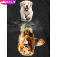 MomoArt Full Square Drill Diamond Painting Animal  Embroidery Cat Tiger Cross Stitch 5D Home Decoration Gift