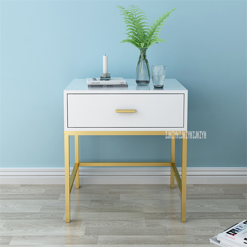 C01 Simple Modern Mini MDF Bedside Cupboard Economy Bedroom Nightstand Shelf Night Table Bedside Locker Small Storage Cabinet