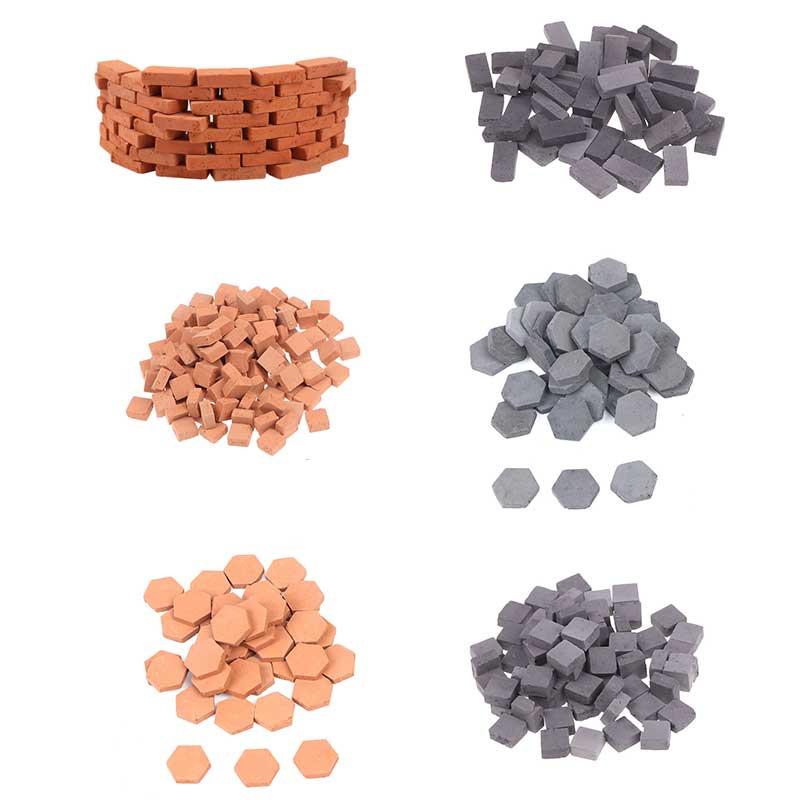 40/50/70/120 pçs 1/16 miniatura diy durável mesa de areia diorama paisagem crianças cenário construção brinquedo modelagem simulação tijolo