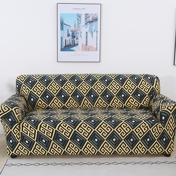 Sofa Covers for Living Room Modern Floral Printed Stretch Sectional Slipcover Polyester L Shape Armchair Couch Case 1/2/3/4 Seat 25