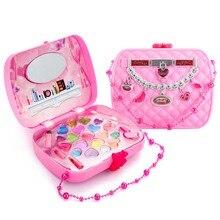 Игрушка для макияжа, ролевые игры, детский набор для макияжа, безопасный нетоксичный набор для макияжа, игрушка для девочек, туалетный косметический походная коробка, игрушка косметика для девочек