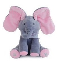 Children'S Lovely Doll  Hide And Seek Elephant Can Sing With Music Cover Eyesbaby Elephant Plush Appeas Children Toy