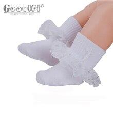 Gooulfi  Baby Baptism Socks Boy in White New Born Cross Embroidery Pack Socks Baby Unisex Christening Cotton  Socks for Newborn