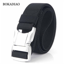 BOKADIAO Military Combat Stretch elastic nylon Belt Aluminum buckle Tactical Belts for men Outdoor Training Waistband male strap