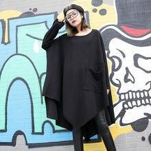 Черное свободное зимнее базовое платье женское вельветовое в