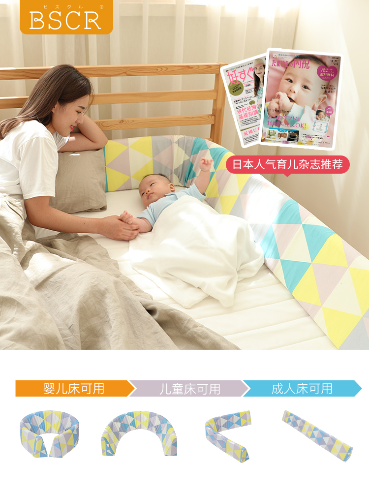 Free Shipping Bscr Japanese Bed Fence Baby Anti-fall Fence Baby Fence 2 M 1.8 M Big Bed Universal