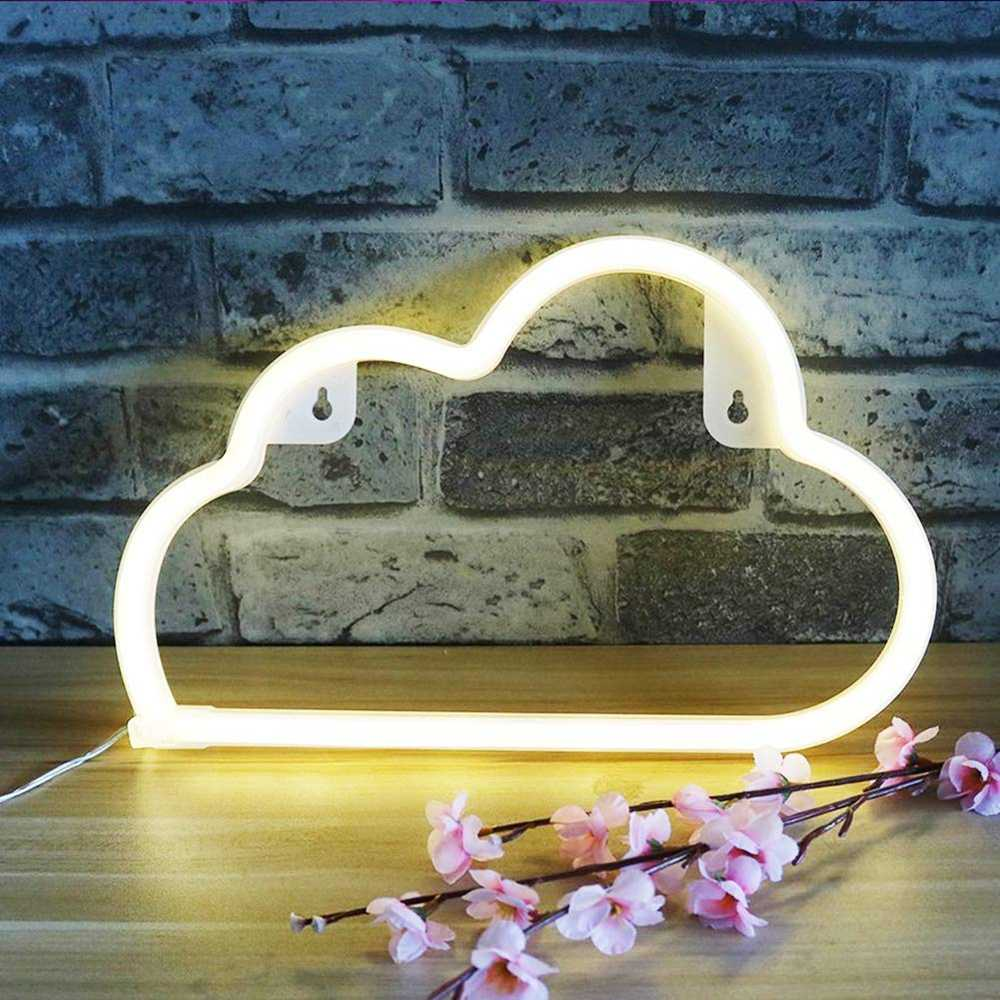 Cute LED Cloud Sign Shaped Decor Light Wall Decor for Christmas Birthday Party Kids Room Living Room Wedding Party Decoration