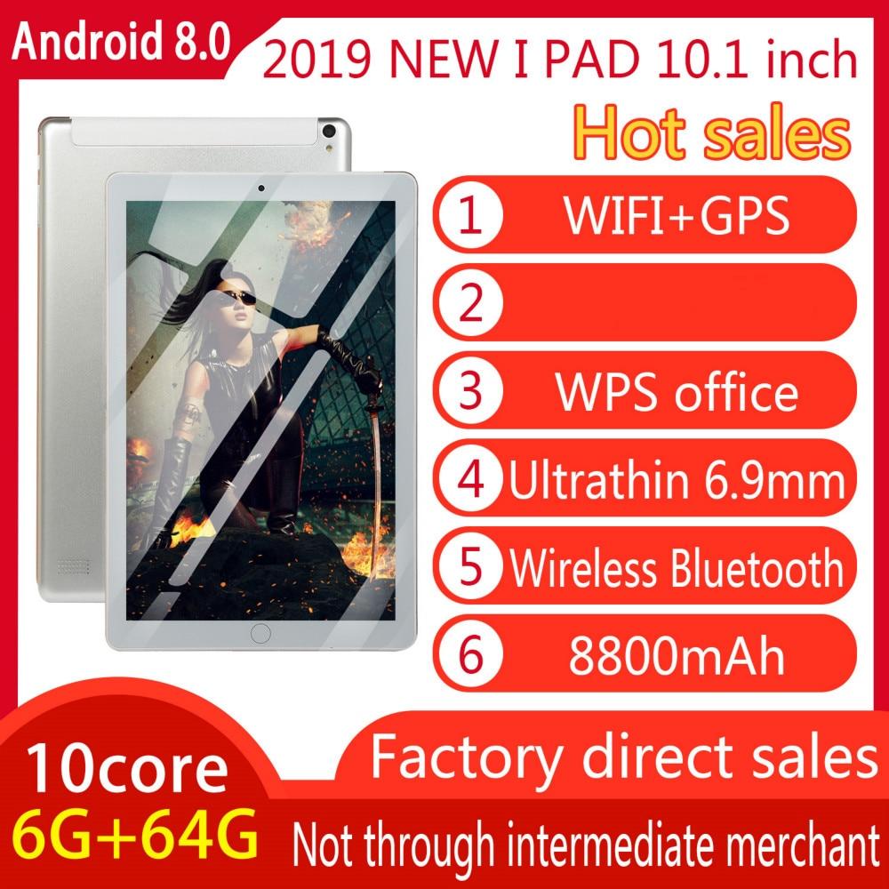 Original 10-inch Full-screen Dual-card Tablet WIFI Andriod 8.0 System Ten-core Large Memory 6G Memory +16/64G ROM Tablet