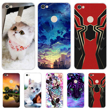 все цены на For Xiaomi Redmi Note 5A Prime Case Silicone Cover Cute Cat Dog Funda For Xiomi Xioami Xiaomi Redmi Note 5A Prime Phone Cases онлайн