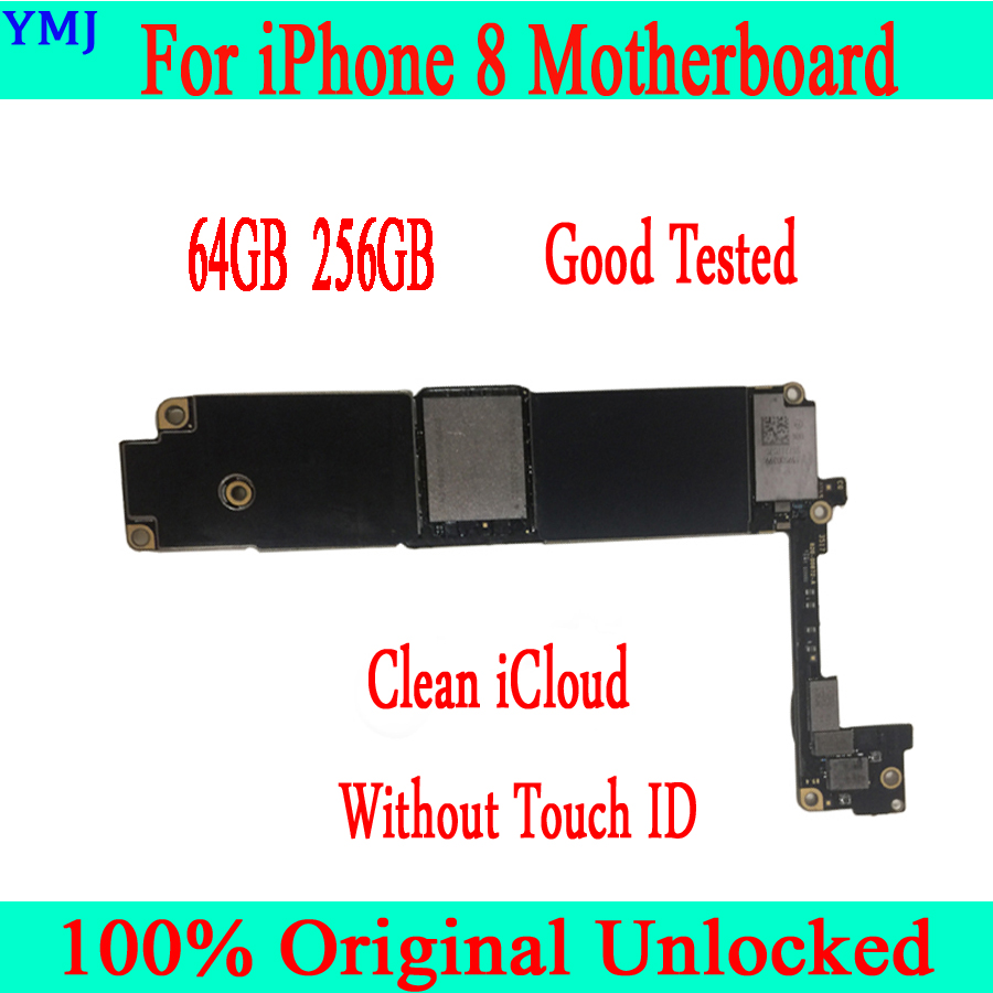For <font><b>iphone</b></font> <font><b>8</b></font> <font><b>Motherboard</b></font> <font><b>with</b></font>/without <font><b>Touch</b></font> <font><b>ID</b></font> 100% Original unlocked for <font><b>iphone</b></font> <font><b>8</b></font> Mainboard 64GB 256GB <font><b>with</b></font> Full Chips image