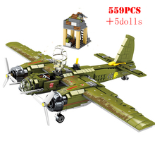 WW2 военный Ju 88 бомбардировщик строительные блоки армейский солдат фигурки техника городской самолет Танк оружие Кирпичи Детские игрушки подарок на день рождения