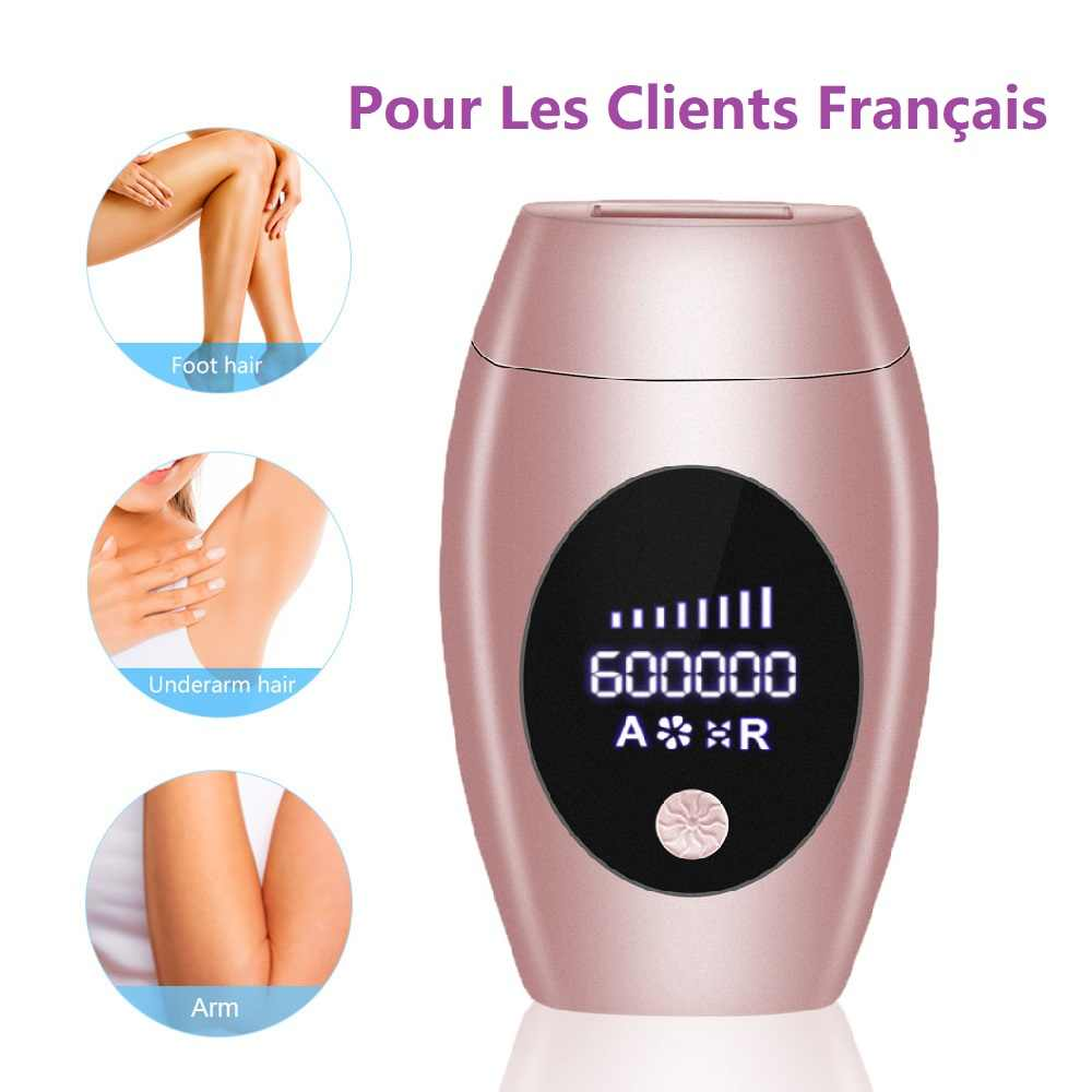 600000 Flash Professionele Permanente Laser Epilator Lcd Display Laser Ipl Ontharing Machine Photoepilator Pijnloos Depilador