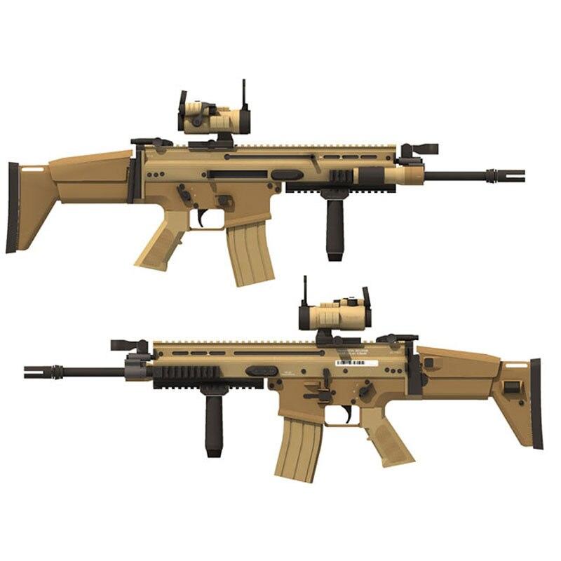 98 Cm 1:1 FN Scar Sniper Rifle DIY 3D Paper Card Model Building Sets Construction Toys Educational Toys Military Model