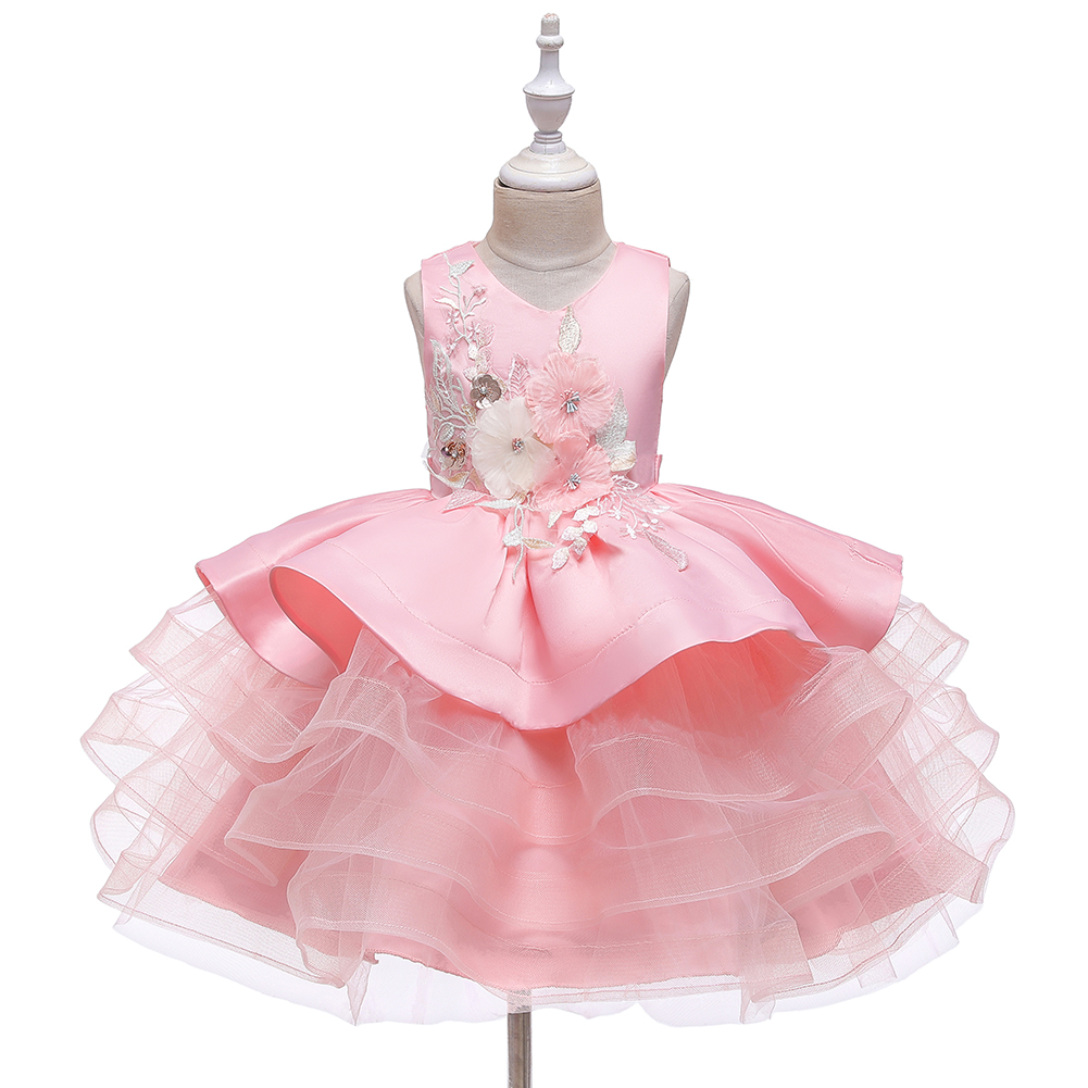 Kids Girl Swan Flamingo Princess Baby Lace Tutu Party Dress Prom Pagenat Dresses