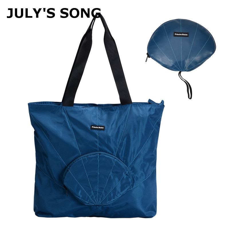 JULY'S SONG Foldable Shoulder Bags Waterproof Memory Spinning Travel Bag Storage Bag Folding Shell Packing Cubes Handbags