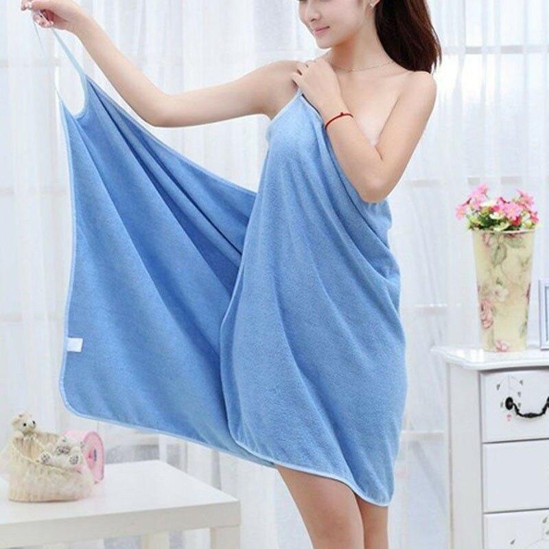 Wearable New Home Textile Towel Women Robes Bath Towel Dress Womens Lady Fast Drying Beach Spa Magical Nightwear Sleeping