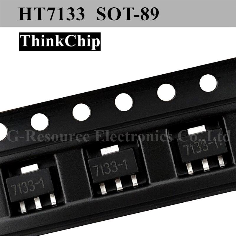 (20 pcs) HT7133 7133 7133-1S0T-89 SMD Fixed LDO Voltage Regulator HT7133-1 SOT89