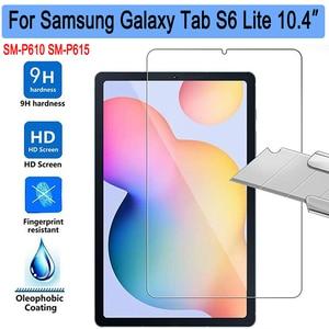 Vidro temperado para samsung galaxy tab s6 lite 10.4 ppp610 p615 SM-P610 SM-P615 protetor de tela 9h 0.3mm tablet película protetora