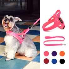 Dog Harness No Pull Adjustable Pet Soft Vest Safe Easy Control with Leash for Small Medium Large Dogs