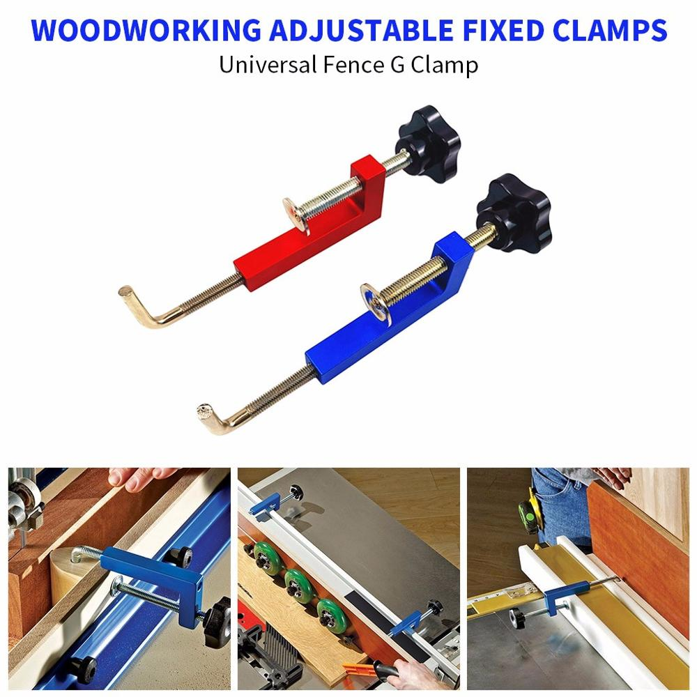Woodworking G Clamp Adjustable Fixed Clamps Woodworking Clips Universal Fence Clip General G Clamp Hand Operated Tool Clamps Aliexpress