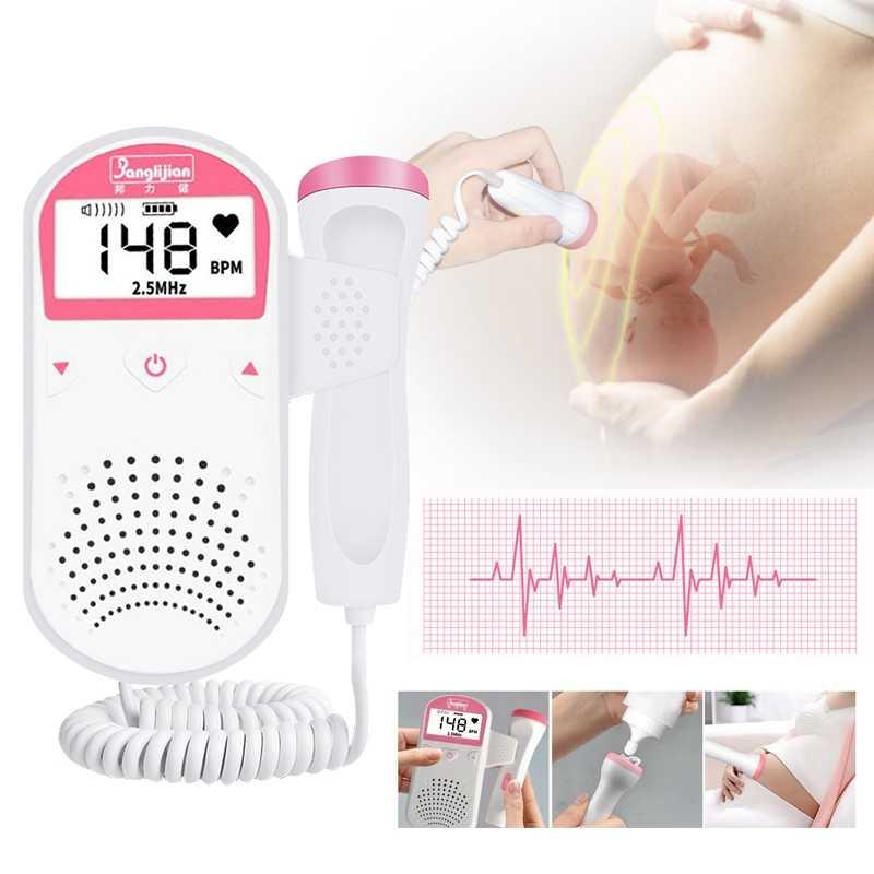 Upgrade 3.0MHz Doppler Janin Heart Rate Monitor Kehamilan Bayi Janin Suara Denyut Jantung Detector LCD Display Tidak Ada Radiasi
