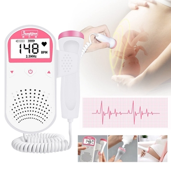 Upgraded 3.0MHz Doppler Fetal Heart rate Monitor Home Pregnancy Baby Fetal Sound Heart Rate Detector LCD Display No Radiation doppler fetal heart rate monitor home pregnancy baby fetal sound heart rate detector lcd display no radiation pregnant monitor