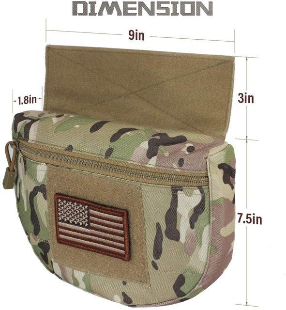Tactical Dump Drop Pouch, Armor Carrier Drop Pouch Hunting EDC Utility Bag Combat Gear  for AVS JPC CPC AVS Tactical Vest 3