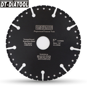 "Image 4 - DT DIATOOL  1pc Vacuum Brazed Diamond Cutting Disc Multi Purpose for Rebar Aluminum hard Granite Rescue Saw blade 4.5"" 9"""