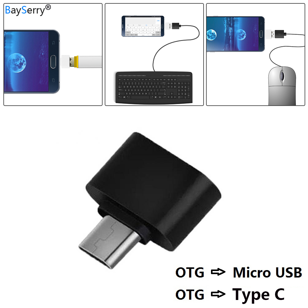 OTG TypeC Micro USB OTG Cable Adapter 2.0 Converter For Mobile Android Samsung Micro USB Tablet Pc To Flash Drive Mouse OTG Hub