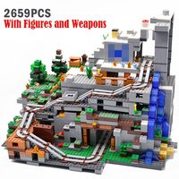 Minecraft Series Game The Mountain Cave Bricks 2659pcs DIY Building Blocks Compatible With legoinglys My World Toys Gifts Sets