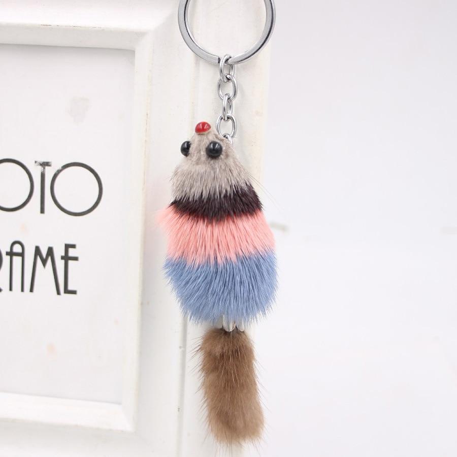 Ms. Little Fox Cute Fur Mink Bag Accessories Accessories True Fur Fox Key Links
