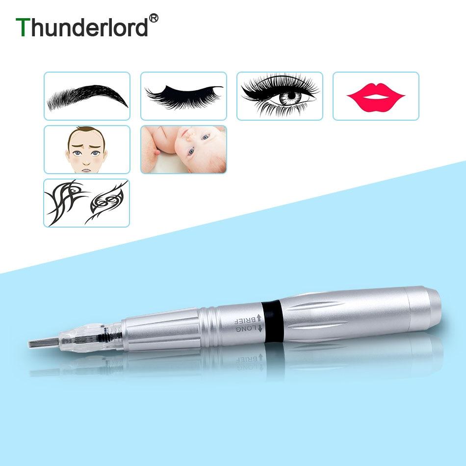 THUNDERLORD Permanent Makeup Machine Rotary Tattoo Pen Cartridge Needles For Eyebrow Lip Eye Liner Cosmetic Gun Tattoos Kit