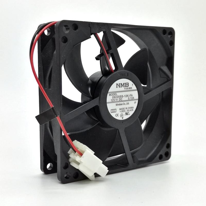 New Waterproof Fan 12V NMB 9025 Refrigerator Fan 09225SS-12K-FA 9cm Computer Cabinet Power Fan