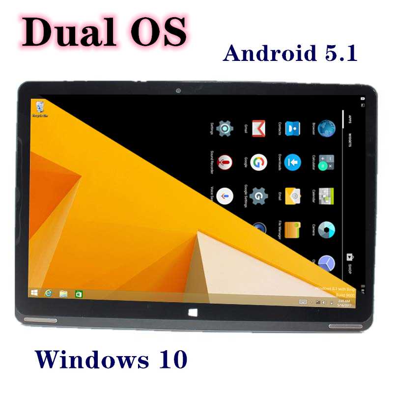 W102C 64-bit OS 10.1 Inch Tablet PC Android5.1+Windows 10 Home(Dual System) Quad Core 2GB+64GB HDMI 1280x800 IPS Wifi  Bluetooth