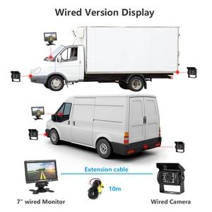 """Image 5 - JMCQ 7 """"TFT LCD السلكية سيارة رصد HD عرض السلكية عكس كاميرا نظام صف سيارات للسيارة الرؤية الخلفية شاشات لشاحنة مع 2 عدسة"""