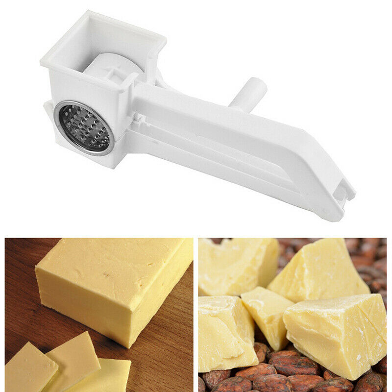 1 pcs Manual <font><b>Rotary</b></font> <font><b>Cheese</b></font> <font><b>Grater</b></font> multifunction <font><b>cheese</b></font> spreader Stainless Steel butter Chocolate Cutter tools kitchen Gadgets image