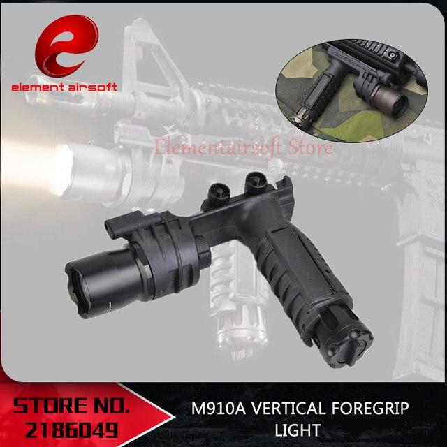 องค์ประกอบ Surefir ไฟฉายยุทธวิธีปืนไรเฟิล Airsoft Light Softail Scout Light M910A แนวตั้ง FOREGRIP อาวุธปืน lanterna