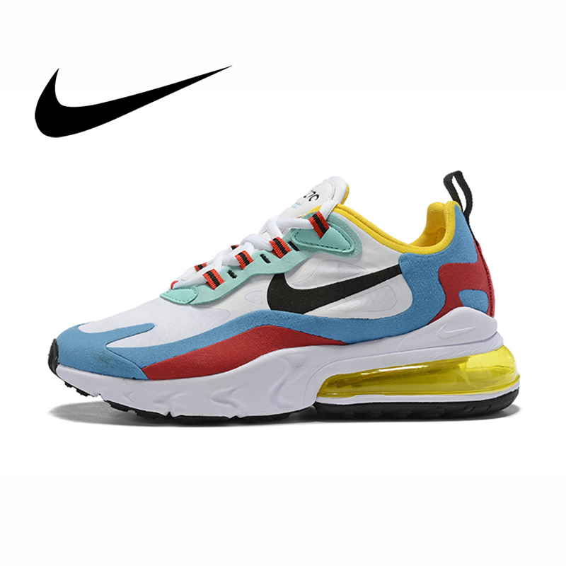 Original Nike Air Max 270 React Women's Sports Running Shoes Cushion Sneakers Fashion Comfortable New Color Matching AT6174-002