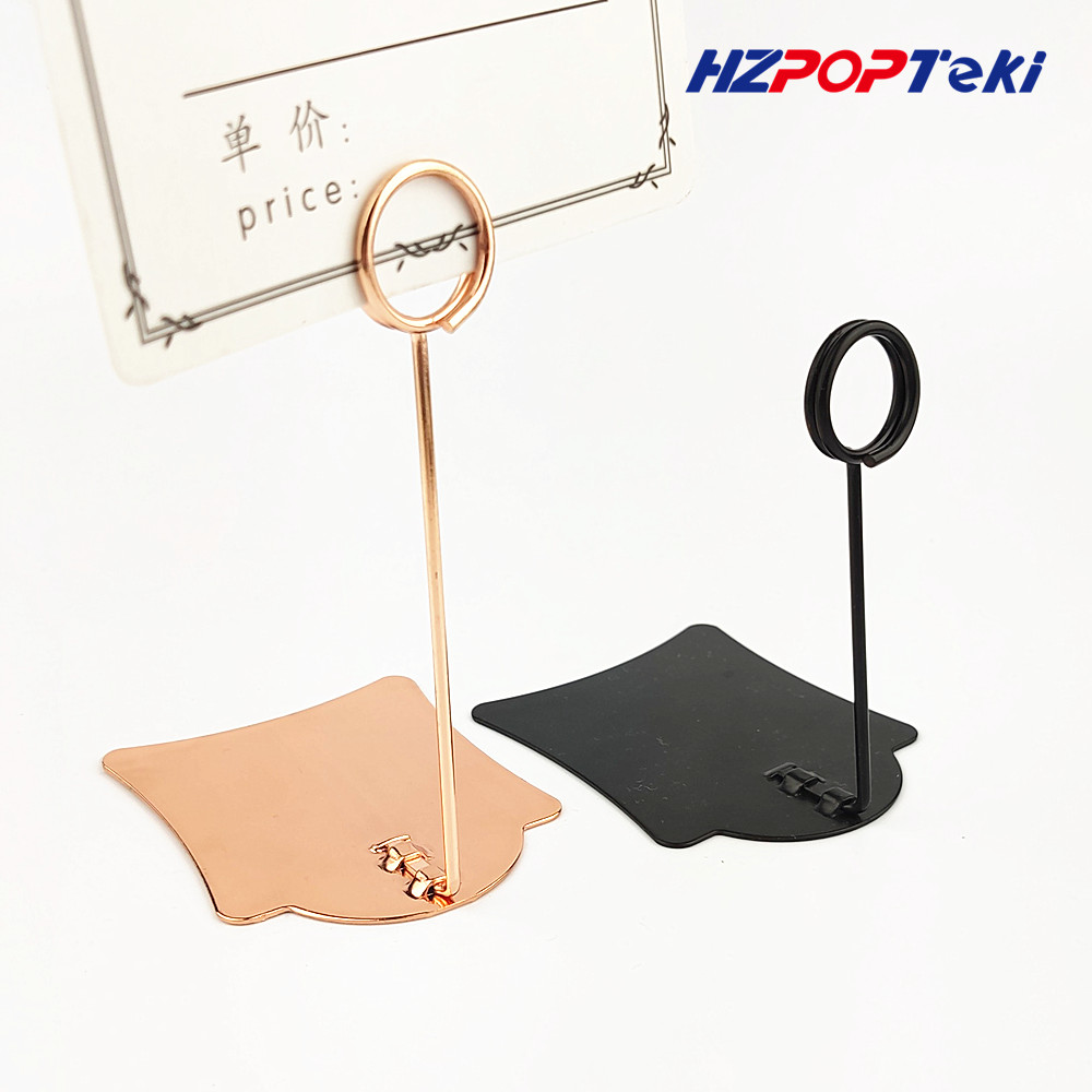 POP Metal Price Tag Paper Sign Label Card Display Clips Clamp Holders Stand For Stores Promotions 4 Colors 100pcs