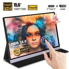 15.6 portátil usb c monitor de toque para lepow asus zenscreen hori ps3 ps4 xbox switch gaming monitor portátil computador portátil display gamer 1080p