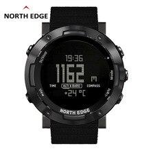 Мужские спортивные часы NORTH EDGE, альтиметр, барометр, компас, термометр, шагомер, часы с функцией подсчета калорий, цифровые часы для бега, скалолазания