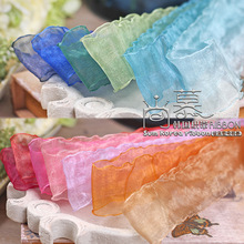 100yards 25 38 70mm waved edge organza sheer ribbon for garment skirt accessories hair bow diy bouquet