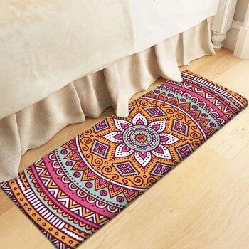 Estampado de flores Mandala étnica rectángulo Alfombra alfombras de Alfombra superior y...