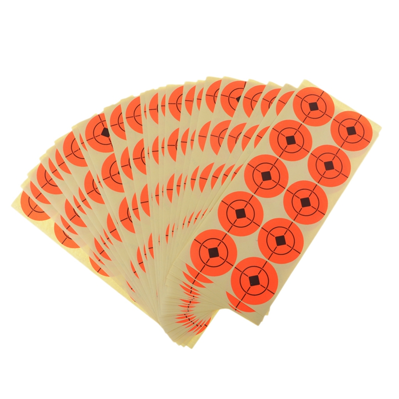 SEWS-250Pcs Target Fluorescent Self Adhesive Target Stickers For Archery Bow Hunting Practice Orange