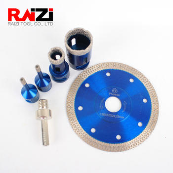 цена на Raizi Diamond Hole Saw Drill Bit Set For Porcelain Ceramic Tile Granite Marble Vacuum Brazed Dry Tile Hole Cutter Drilling Bits
