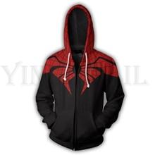 Men and Women Zipper Hoodies Spiderman 3d Print Hoody Jacket Mravel Costume Harajuku Streetwear