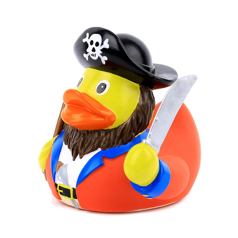 10Cm Duck New Bath Toys Floating Sound Rubber Duck Pirate Shape Duck Bath Toys For Kids