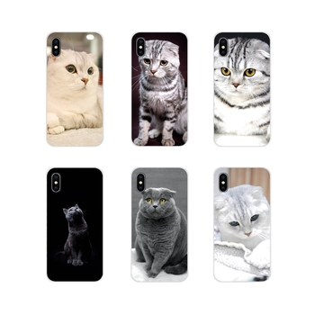 Scottish fold cat Felis catus Scotland Cell Phone Cover Bag For Xiaomi Redmi Note 3 4 5 6 7 8 Pro Mi Max Mix 2 3 2S Pocophone F1 image